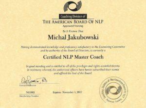 Certyfikat Master Coach